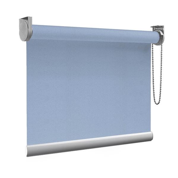 Afbeelding van Rolgordijn op maat goedkoop - Licht blauw macaron Semi transparant