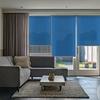Afbeelding van Rolgordijn op maat goedkoop - Donkerblauw 70's look Semi transparant