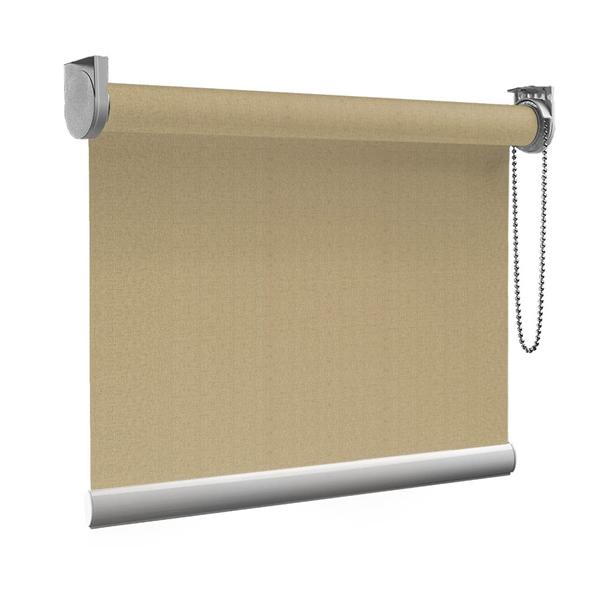 Afbeelding van Rolgordijn op maat goedkoop - Taupe donkerarmy Semi transparant