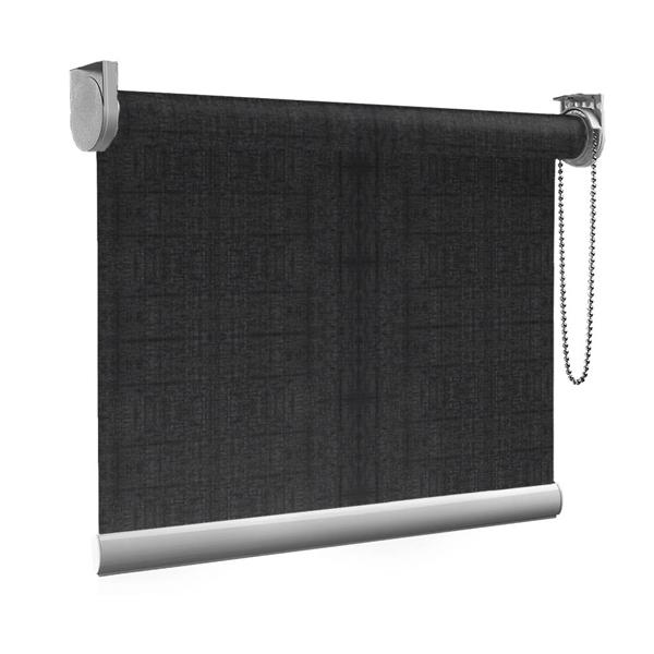 Afbeelding van Standaard Rolgordijn op maat - Vintage zwart Transparant