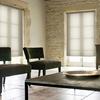 Afbeelding van XL Rolgordijn op maat Zijsteunen - Glans licht khaki Verduisterend