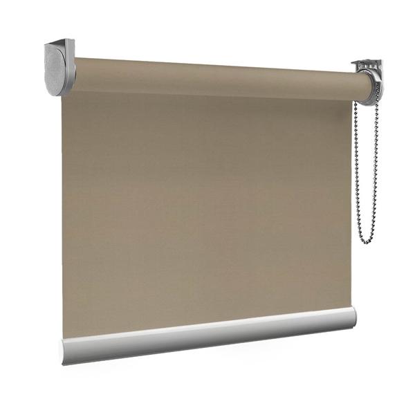 Afbeelding van XL Rolgordijn op maat Zijsteunen - Glans zilver Verduisterend