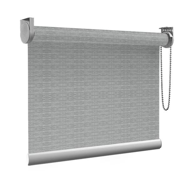 Afbeelding van XL Rolgordijn op maat Zijsteunen - 50 tinten grijs Verduisterend