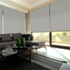 Afbeelding van XL Rolgordijn op maat Zijsteunen - Glans lichtbruin Verduisterend