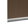 Afbeelding van XL Rolgordijn op maat Zijsteunen - Luxe ouderwets bruin Verduisterend