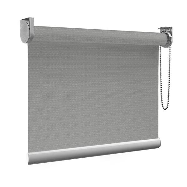 Afbeelding van XL Rolgordijn op maat Zijsteunen - Trendy grijs Verduisterend