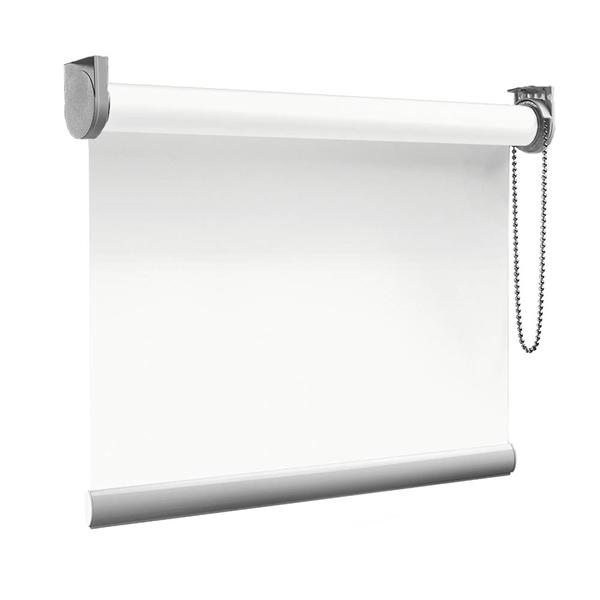 Afbeelding van XL Rolgordijn op maat Zijsteunen - Wit Verduisterend