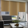 Afbeelding van XL Rolgordijn op maat Zijsteunen - Beige ouderwets geel Verduisterend