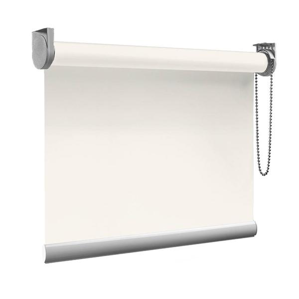 Afbeelding van XL Rolgordijn op maat Zijsteunen - Gebroken wit Verduisterend