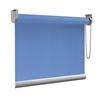Afbeelding van XL Rolgordijn op maat Zijsteunen - Blauw azuur Verduisterend