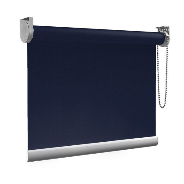 Afbeelding van XL Rolgordijn op maat Zijsteunen - Blauw donker denim Verduisterend