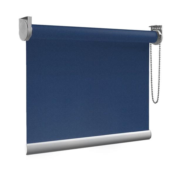Afbeelding van XL Rolgordijn op maat Zijsteunen - Donkerblauw Verduisterend