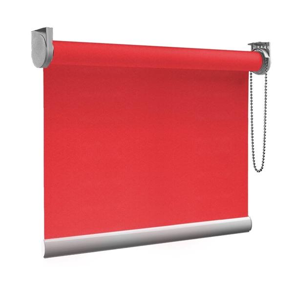Afbeelding van XL Rolgordijn op maat Zijsteunen - Rood roze Verduisterend
