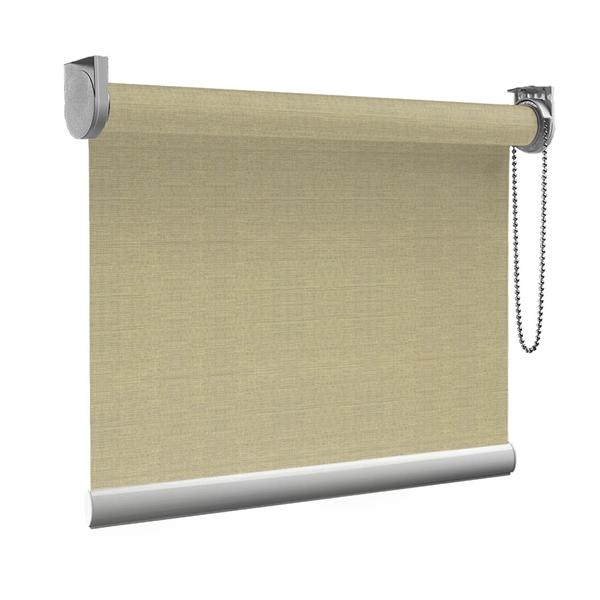 Afbeelding van Rolgordijn Breed Montagesteunen - Canvas beige Semi transparant