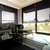 Afbeelding van Rolgordijn Breed Montagesteunen - Antraciet bleek design Semi transparant