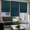 Afbeelding van Rolgordijn Breed Montagesteunen - Groen/Blauw zee Semi transparant