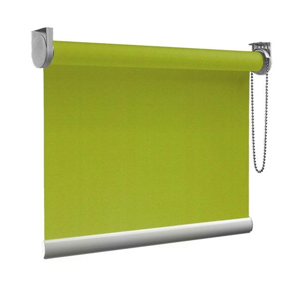 Afbeelding van Rolgordijn Breed Montagesteunen - Limegroen donker Semi transparant