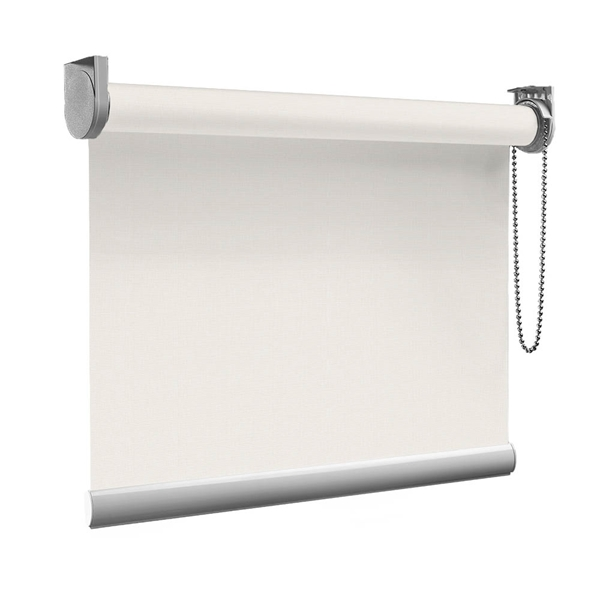 Afbeelding van Rolgordijn Breed Montagesteunen - Wit beige Semi transparant
