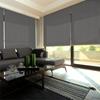 Afbeelding van Rolgordijn Breed Montagesteunen - Donker grijs gemeleerd Semi transparant