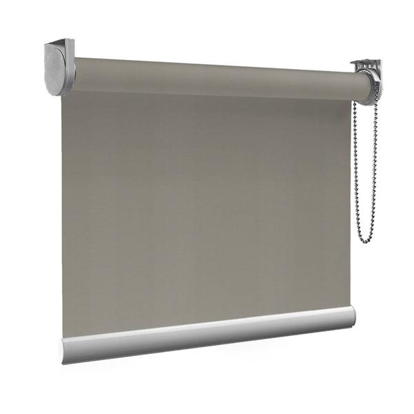 Afbeelding van Rolgordijn Breed Montagesteunen - Stoer grijs Semi transparant