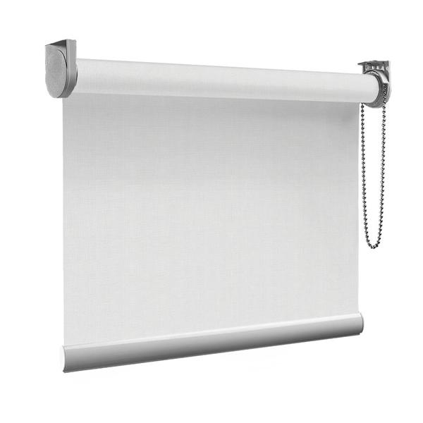 Afbeelding van Rolgordijn Breed Montagesteunen - Zilver wit Semi transparant