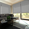 Afbeelding van Rolgordijn Breed Montagesteunen - Lichtgrijs gemeleerd Semi transparant