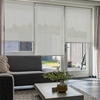 Afbeelding van Rolgordijn Breed Montagesteunen - Beige grijs Semi transparant