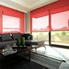 Afbeelding van Rolgordijn Breed Montagesteunen - Rood gala Semi transparant