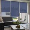 Afbeelding van Rolgordijn Breed Montagesteunen - Blauw nacht Semi transparant