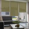 Afbeelding van Rolgordijn op maat Brede ramen - Glans olijfgroen Transparant