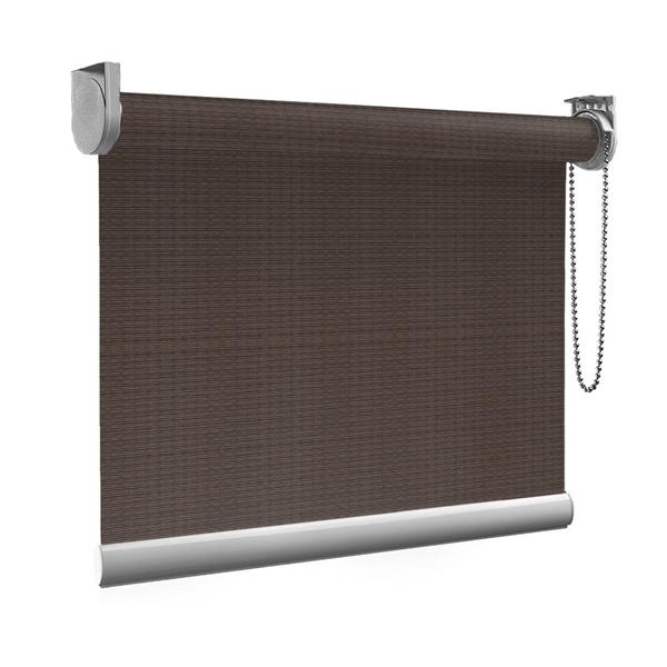 Afbeelding van Rolgordijn op maat Brede ramen - Luxe bruin rood Transparant