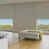 Afbeelding van Rolgordijn op maat Brede ramen - Luxe warmgroen Transparant