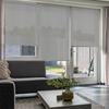 Afbeelding van Rolgordijn op maat Brede ramen - Creme geweven Transparant