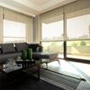 Afbeelding van Rolgordijn op maat Brede ramen - Zand geweven Transparant