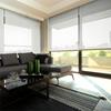 Afbeelding van Rolgordijn op maat Brede ramen - Beige creme fijn Transparant