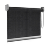 Afbeelding van Rolgordijn op maat Brede ramen - Vintage zwart Transparant