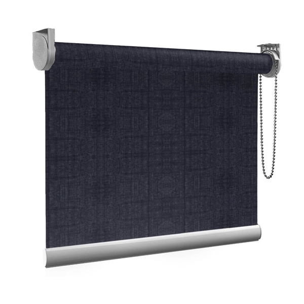 Afbeelding van Rolgordijn op maat Brede ramen - Nacht blauw transparant Transparant