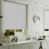 Afbeelding van Rolgordijn op maat met Montageprofiel - Glimmend wit Verduisterend