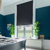 Afbeelding van Rolgordijn op maat met Montageprofiel - Donkerblauw grijs Verduisterend