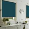 Afbeelding van Rolgordijn op maat met Montageprofiel - Donkerturquoise Verduisterend