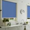 Afbeelding van Rolgordijn op maat met Montageprofiel - Blauw azuur Verduisterend