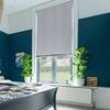 Afbeelding van Rolgordijn op maat met Montageprofiel - Grijs lichtblauw Verduisterend