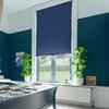 Afbeelding van Rolgordijn op maat met Montageprofiel - Donkerblauw Verduisterend
