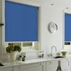 Afbeelding van Rolgordijn op maat met Montageprofiel - Blauw denim Verduisterend