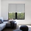 Afbeelding van Rolgordijn op maat met Kliksysteem - Wit glans met ribbel Semi transparant