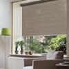Afbeelding van Rolgordijn op maat met Kliksysteem - Luxe ribbel bruin Semi transparant