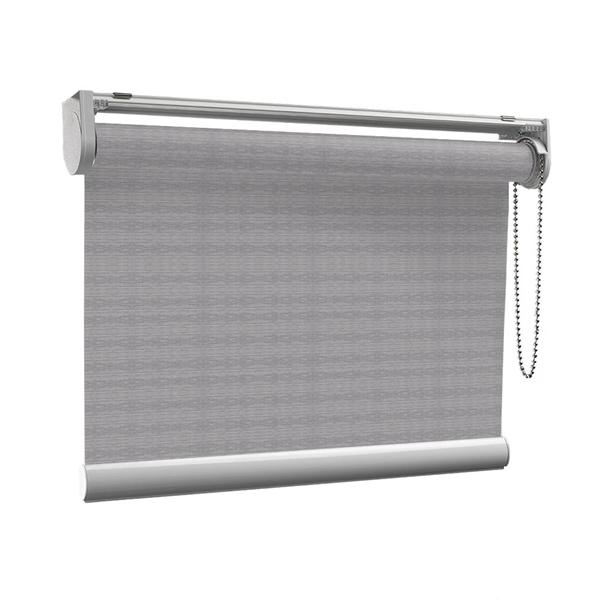 Afbeelding van Rolgordijn op maat met Kliksysteem - Warmgrijs gemeleerd Semi transparant