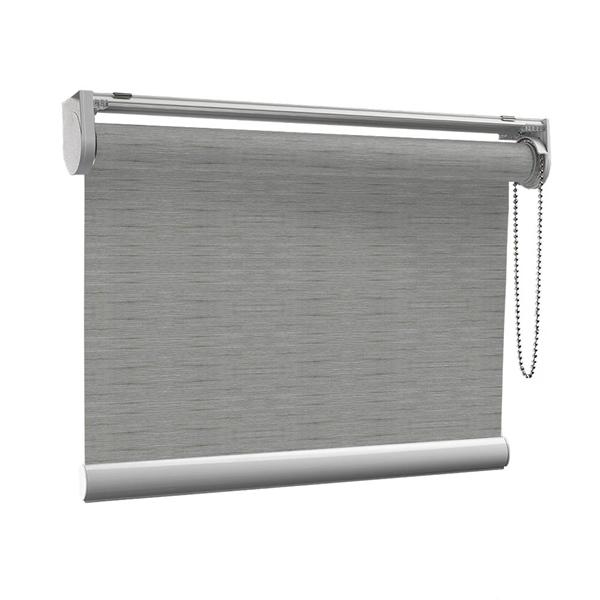 Afbeelding van Rolgordijn op maat met Kliksysteem - Warmgrijs Semi transparant