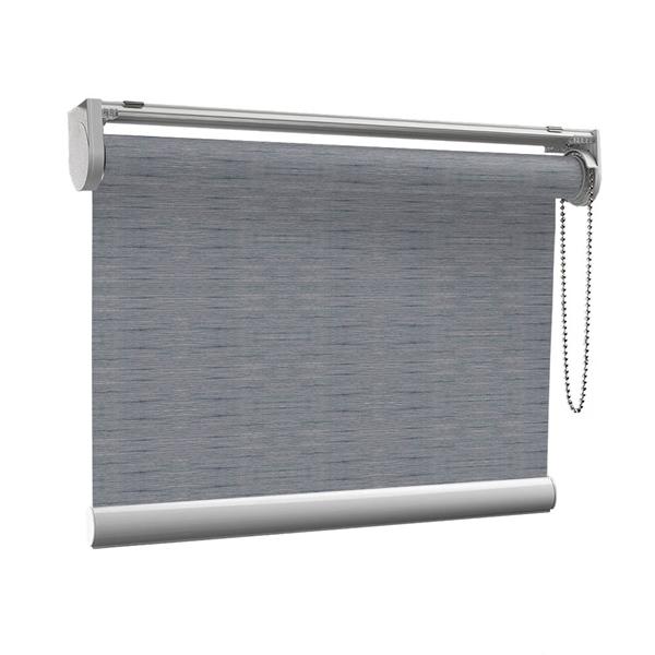 Afbeelding van Rolgordijn op maat met Kliksysteem - Blauwgrijs  gemeleerd Semi transparant