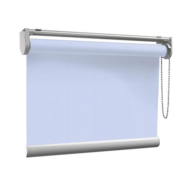 Afbeelding van Rolgordijn op maat met Kliksysteem - Lichtblauw lucht Semi transparant